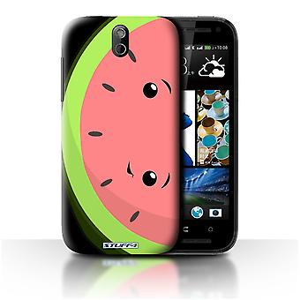 STUFF4 Case/Cover voor HTC Desire 608t/watermeloen/Kawaii voedsel