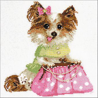 Chihuahua Counted Cross Stitch Kit-9.75
