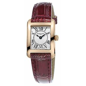 Frederique Constant Womens Carree Brown Leather Strap Silver Dial FC-200MC14 Watch