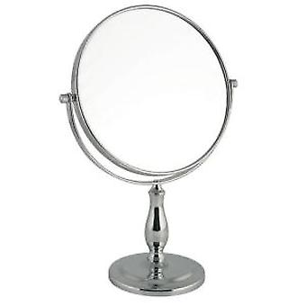Large 5x Magnification Chrome Vanity Mirror