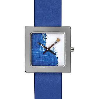 Akteo Blue Paint Kubik   (6) (Fashion Accessories  , Watches  , Anolog )