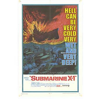 Подводная лодка X-1 фильм плакат печать (27 x 40)