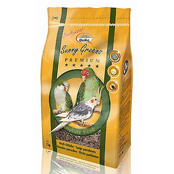 Quiko Large Parakeet Sunny Greens Complete Food 2kg