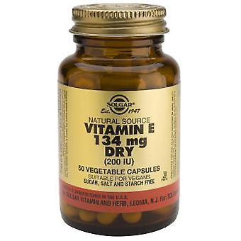 Solgar Vitamin E 'dry' 200Ui 50Vegicaps (Vitamins & supplements , Vitamins)