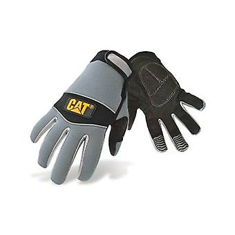 Caterpillar 12213 Mens Neoprene Comfort Fit Gloves Black Grey Male Workwear