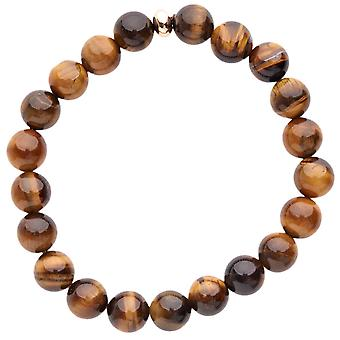 Iced Out Unisex Wooden Bead Armband - Holz 10mm braun