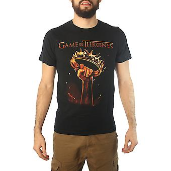 Game Of Thrones The Crown Men's Black T-shirt