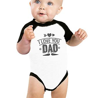I Love You Dad Baby Baseball Shirt Cute Baby Gifts For Fathers Day