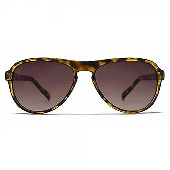 French Connection Retro Keyhole Sunglasses In Tortoiseshell