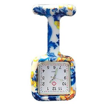 Boolavard® TM Nurses Fashion Coloured Patterned Silicone Rubber Fob Watches