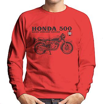 Haynes ejere Workshop Manual Honda 500 mænds Sweatshirt
