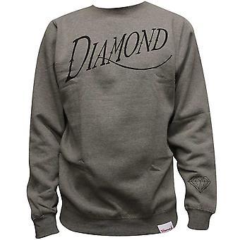 Diamond Supply Co Old Script Sweatshirt Heather