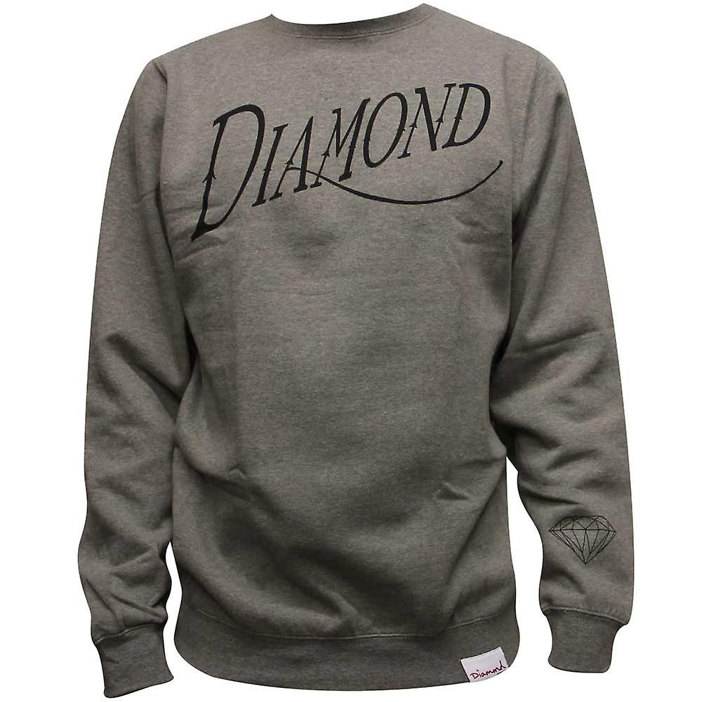 Diamond forsyning Co gamle skriptet Sweatshirt Heather