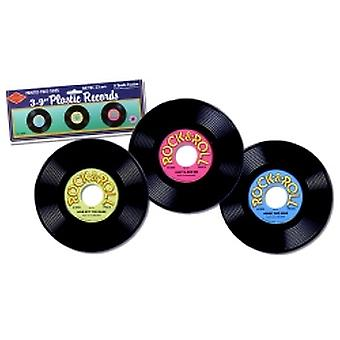 Plastic Records (3 in a pack)