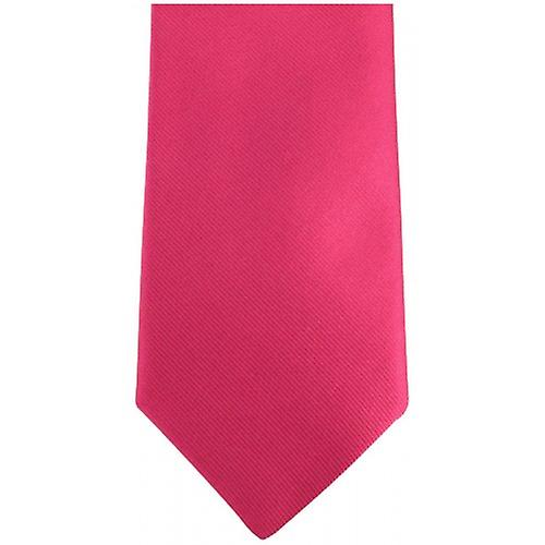 Bassin and Brown Plain Silk Tie - Pink/Lilac