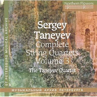 Taneyev String Quartet - Taneyev Strygekvartet: Komplet strygekvartetter 3 nr. 3 & 8 [CD] USA import