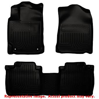 Husky Liners 98901 Black WeatherBeater Front & 2nd Seat FITS:TOYOTA 2012 - 2014