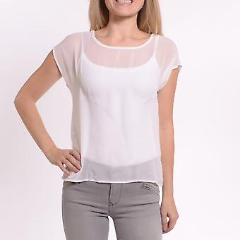 Sleeveless Scoop Neck Top With Zipper at Back