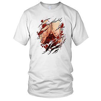 Zombie lungene dratt Superhero Mens T-skjorte