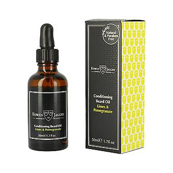 Edwin Jagger Conditioning Beard Oil Limes and Pomegranate 50ml