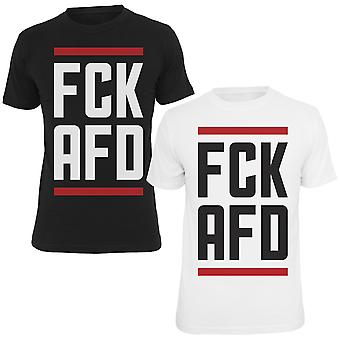 T-Shirt fuck AFD black and white