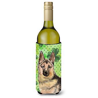 Deutscher Schäferhund St. Patricks Weinflasche Beverge Isolator Hugger