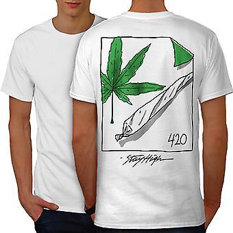 42 Ganja Joint Men WhiteT-shirt Back | Wellcoda