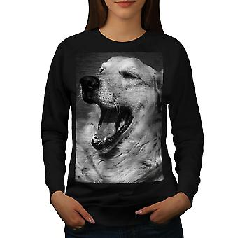 Labrador Dog Cute Animal Women BlackSweatshirt | Wellcoda