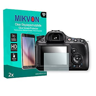 Sony SLT-A58K Alpha Screen Protector - Mikvon Clear (Retail Package with accessories)