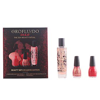 Orofluido Asian 3 Pcs Zen Control Elixir 50ml + 2 Esmaltes De U¤as X 15ml Womens