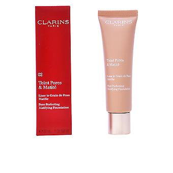Clarins Teint Pores And Matite Nude Beige 30ml Womens New Sealed Boxed