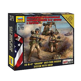 Zvezda Models Us M-47 Dragon Anti-Tank Missile System With Crew Snap Fit