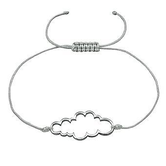 Cloud - 925 Sterling Zilver + Nylon koord snoer armbanden - W18411X