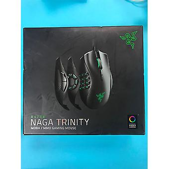 Razer Naga Trinity MOBA/MMO Gaming Mouse (3 Interchangeable Side Plates, Precise 16,000 DPI 5G Optical Sensor, Mechanical Mouse Switches, Chroma RGB and Up to 19 Programmable Buttons)