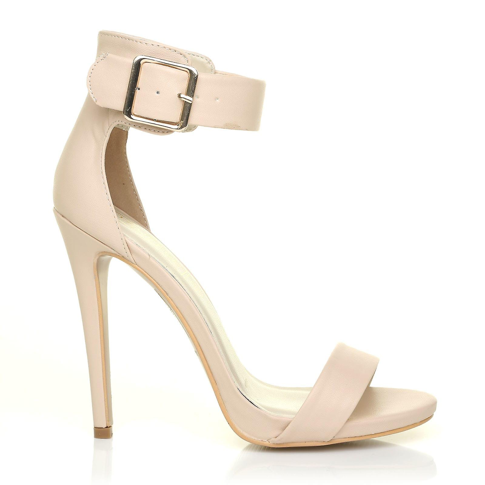 High Heel Leather Stiletto Barely KIM Nude Sandals PU There qYqwBS0
