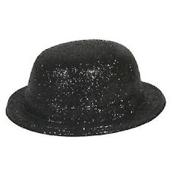 Glitter-Bowler-Hut-schwarz