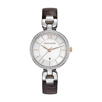 Pierre Cardin ladies watch wristwatch muette femme leather PC107602F01