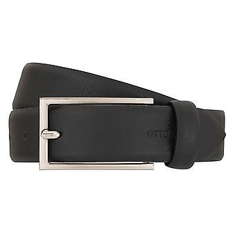 OTTO KERN belts men's belts leather belt black 7009