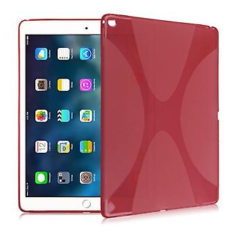 Protective cover silicone X-line series red case cover for new Apple iPad 9.7 2017 bag