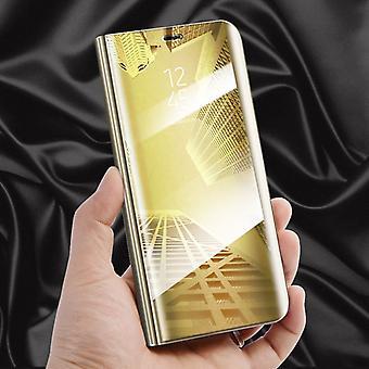 Klart udsyn spejl spejl smart cover guld til Samsung Galaxy S9 G960F beskyttende tilfælde dække pose taske sag ny sag Telefonvækning funktion