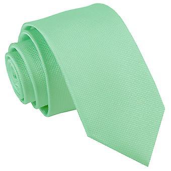 Mint Grün solide Check Slim Krawatte