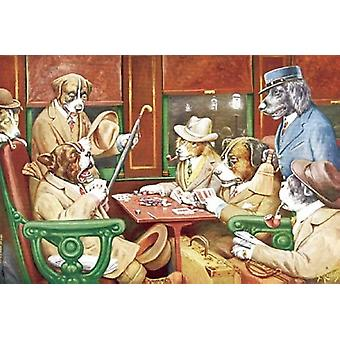 His Station and Four Aces Poster Print by Cassius Marcellus Coolidge (25 x 19)
