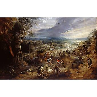 Summer, Peter Paul Rubens, 40x60cm with tray
