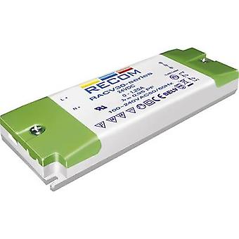 Recom Lighting RACV30-12 LED transformer Constant voltage 30 W 0 - 2.5 A 12 Vdc not dimmable, PFC circuit, Surge protect