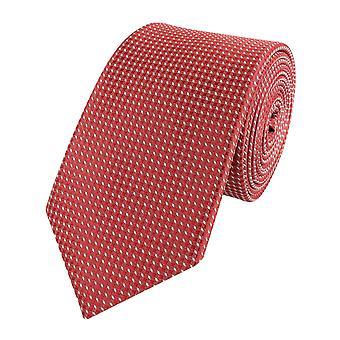 Cravatta di collo legami raccoglitore largo 6cm rosso/bianco modellato Fabio Farini