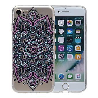 Henna cover voor iPhone van Apple 8 plus gevaldekking van het beschermende siliconen kleurrijke tattoo