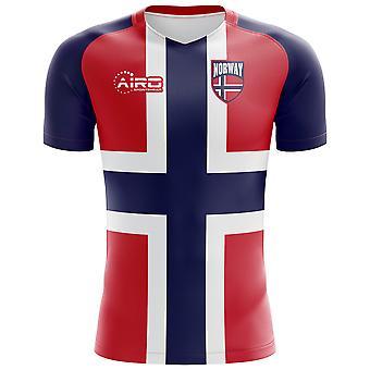 2018-2019 Norwegen Flagge Konzept Fußballtrikot (Kids)