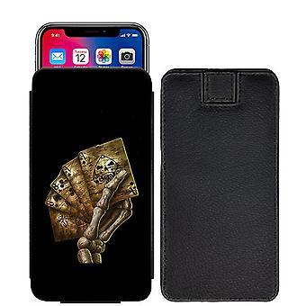 Schädel Custom entworfen gedruckt ziehen Tab Tasche Telefon Fall decken für Nokia 6 [L] - skull28_web