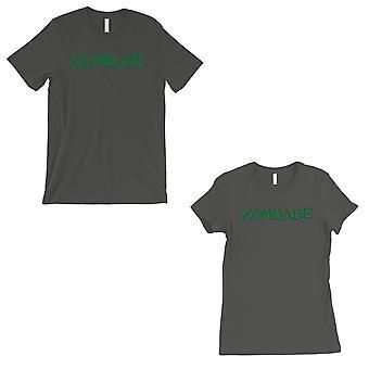 Zombae And Zombabe Matching Couple Gift Shirts Cool Grey