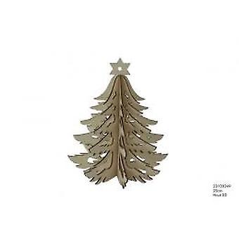 Weihnachtsbaum Holz 3D 20 cm